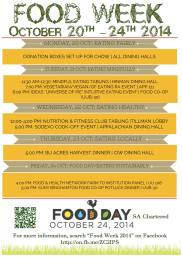 Food Week Binghamton Univ. Poster